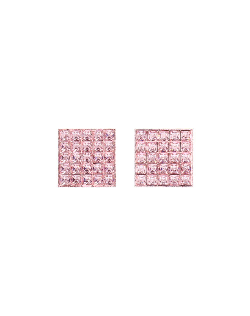 Boucles d'oreilles ligne Luxbox carrées en plexi de couleur rose Lanvin – Prix €695
