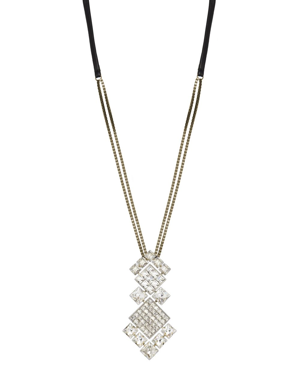 Collier Diamond Square composé de diamants en pierres Swarovski de couleur cristal, Lanvin – Prix €995
