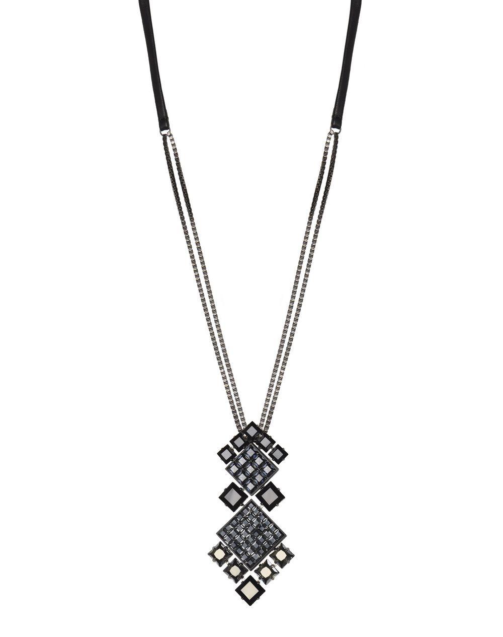 Collier Diamond Square composée de diamants en pierres Swarovski de couleur noireLanvin – Prix €995