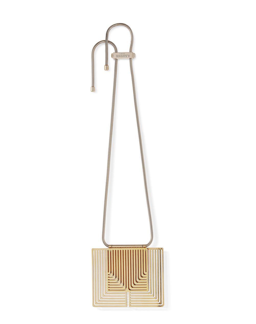 Collier court en laiton couleur or avec plaques métalliques ,Lanvin – Prix €1 195