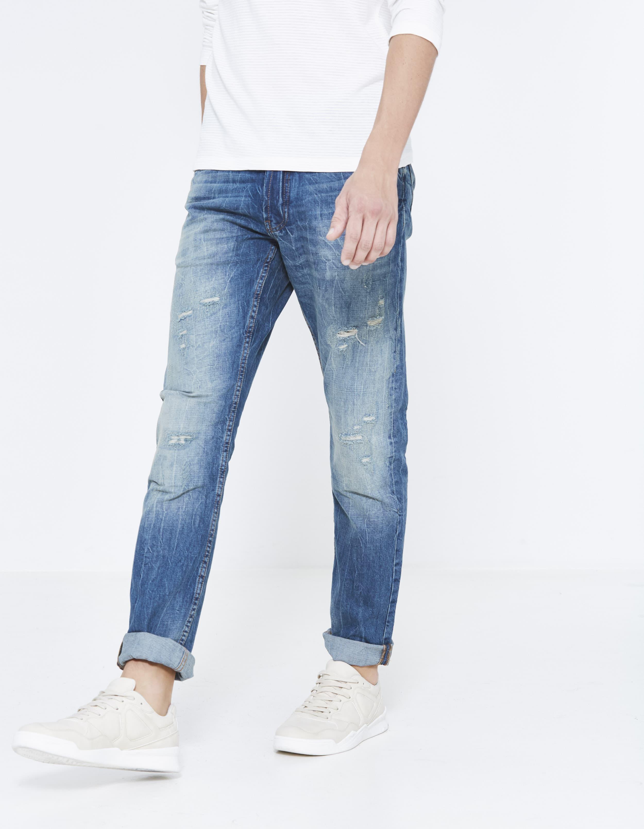 Jean straight C15 100% cotton – double stone Prix 49,99 €