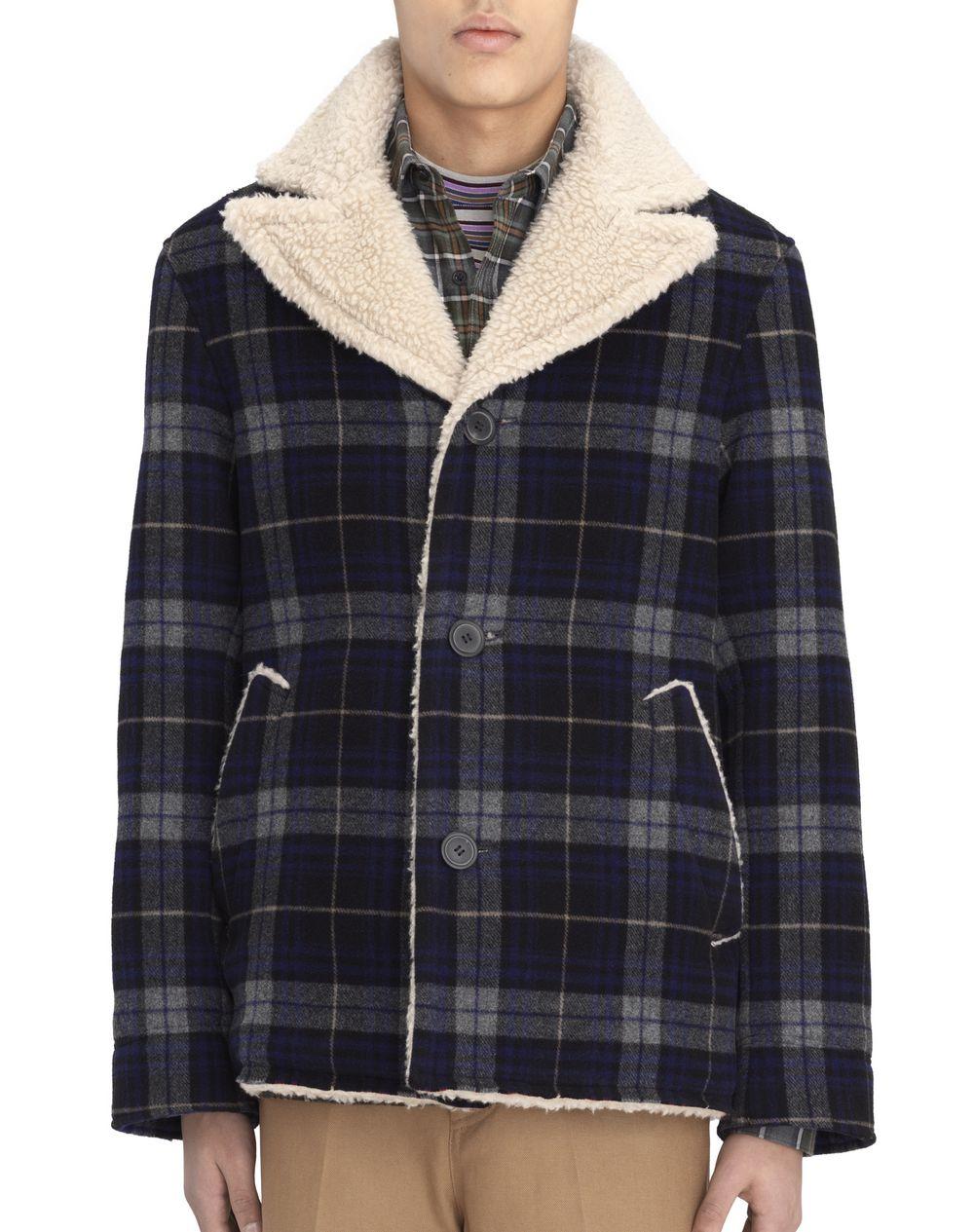 Manteau canadienne en laine à carreaux bleus Lanvin Prix €1 795