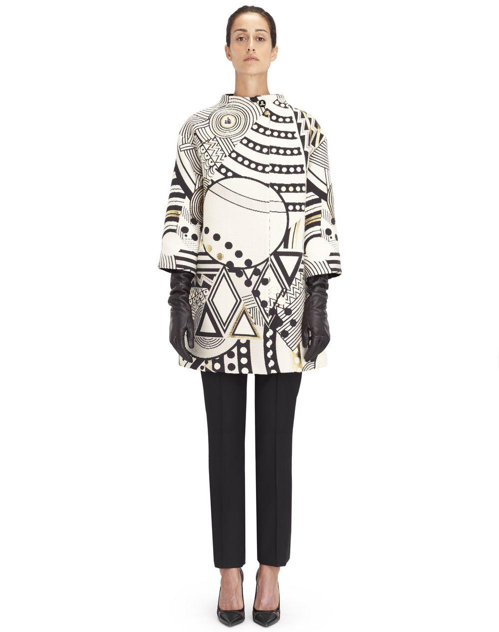 Manteau en laine jacquard avec motif exclusif Lanvin – Prix €3 590