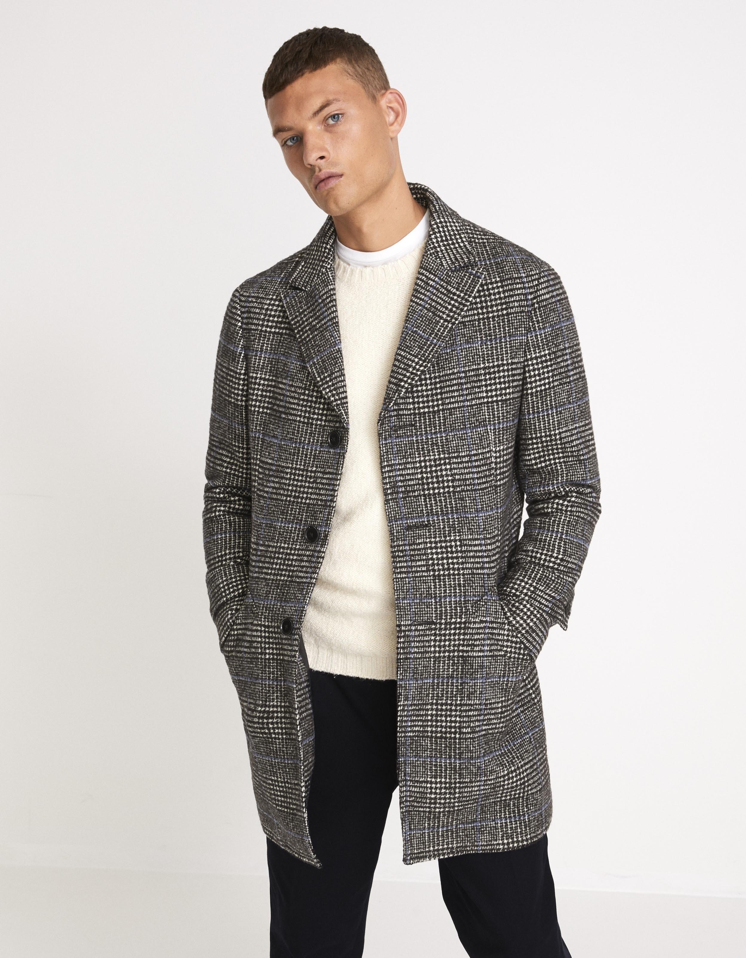 Manteau laine mélangé à carreaux – gris prix 179,90 €