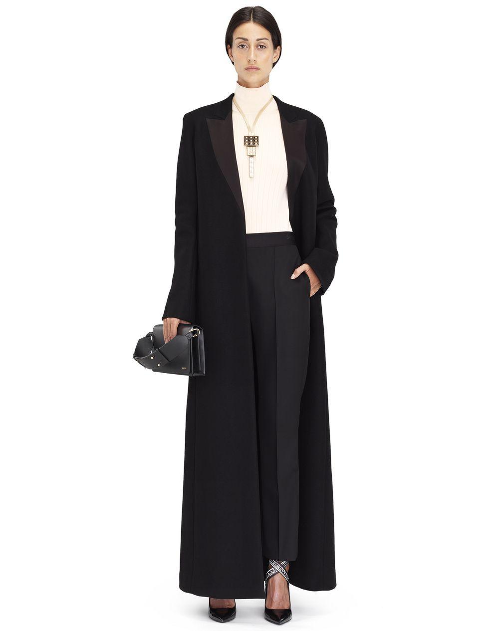 Manteau long en double cachemire noir , Lanvin – Prix €4 985