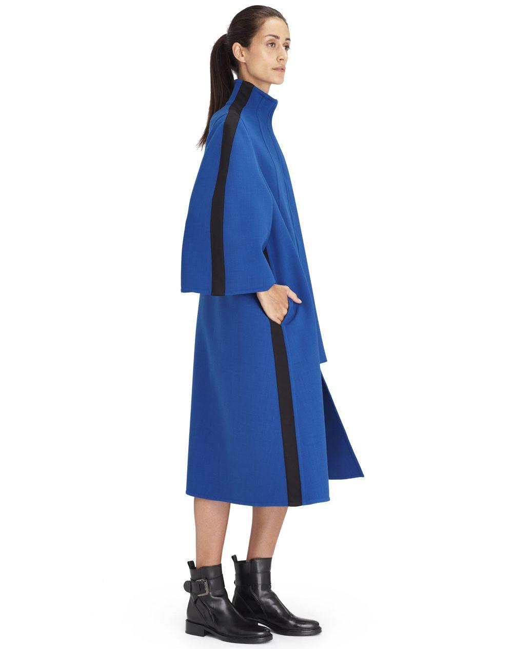 Manteau long en laine stretch de couleur indigo,Lanvin – Prix € 2 990