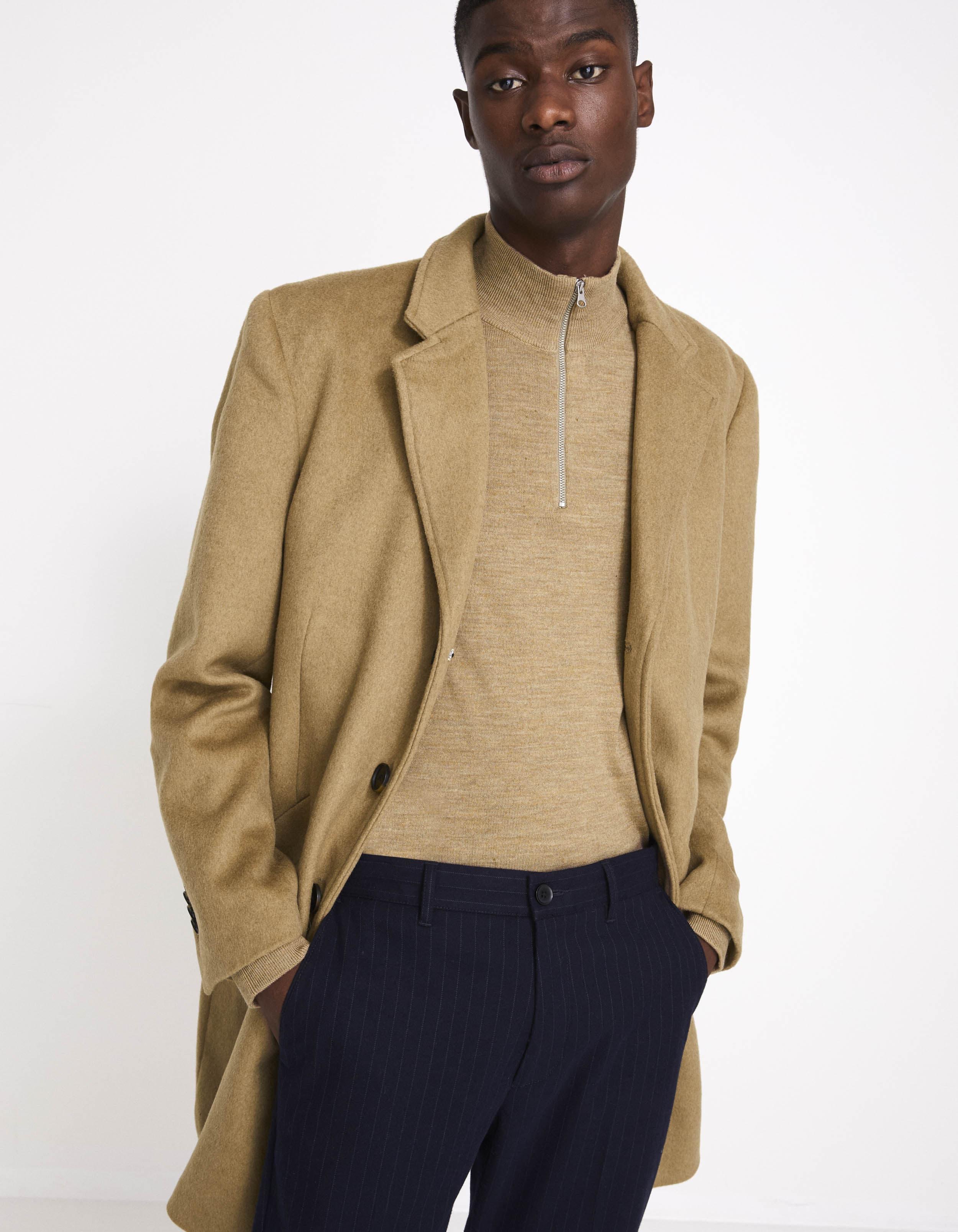 Manteau long laine mélangée – camel Celio prix 129,90 €