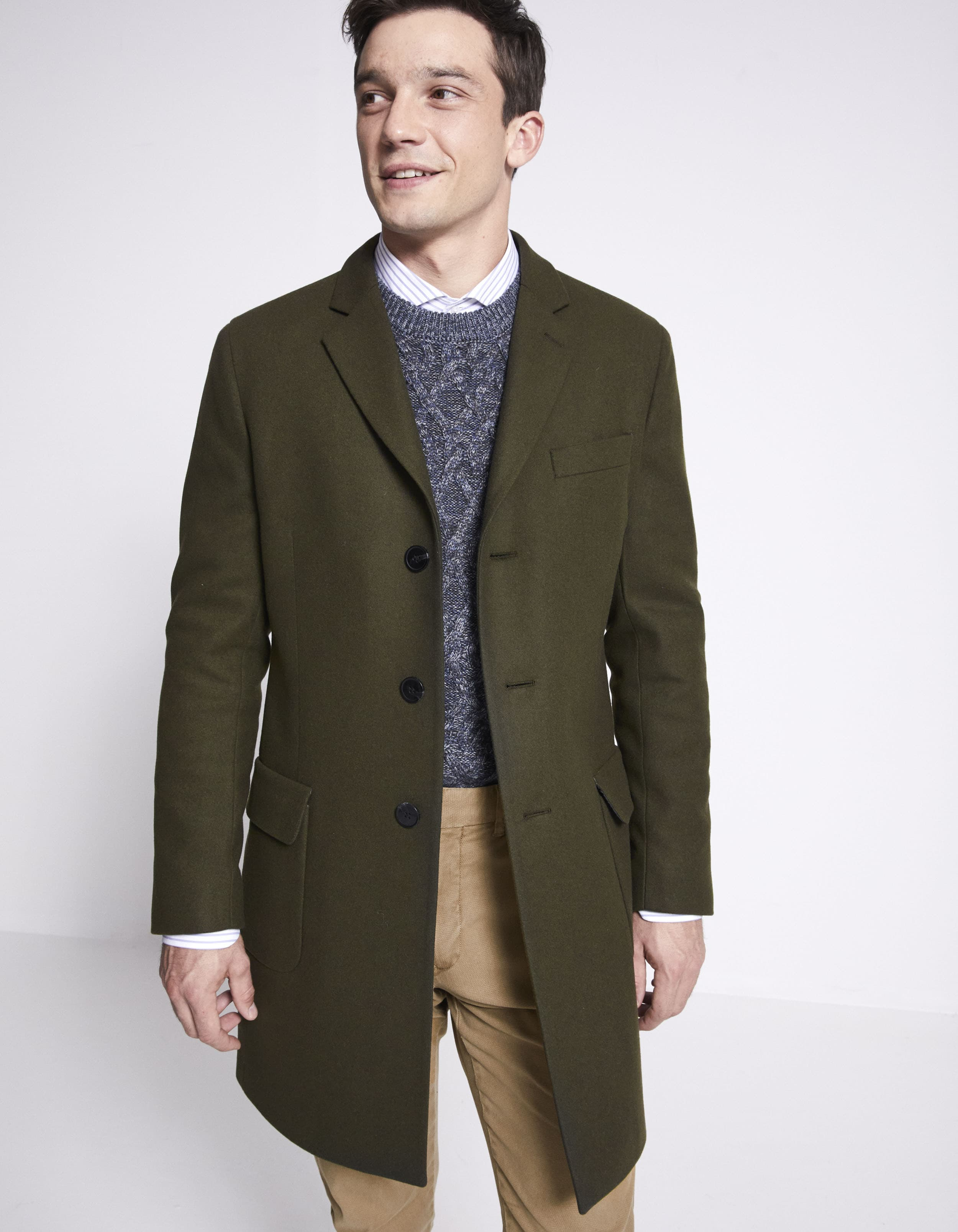 Manteau tissu italien laine mélangée prix 159,90 €
