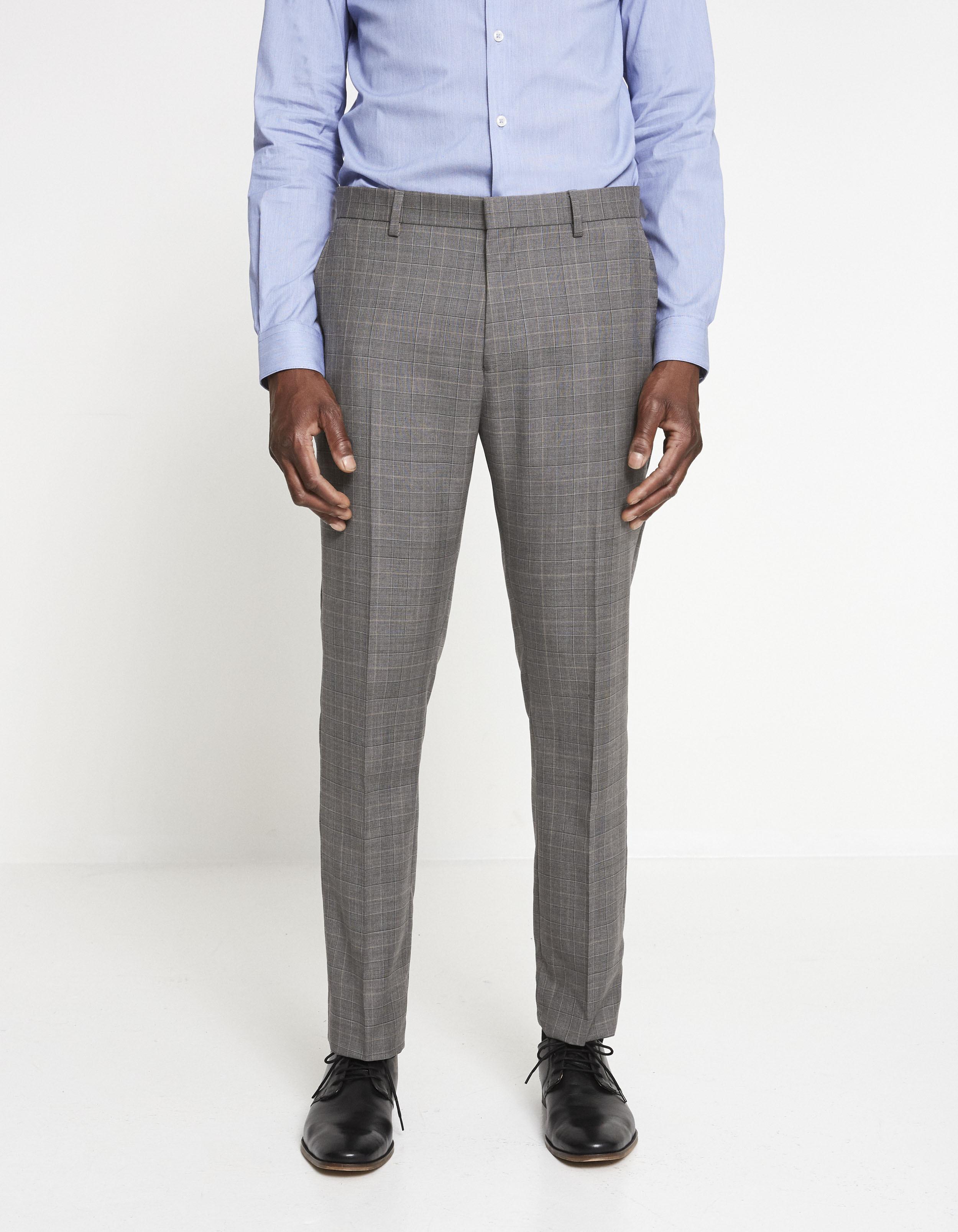 Pantalon Lyes slim 100% laine italienne – gris Prix 99,99 €