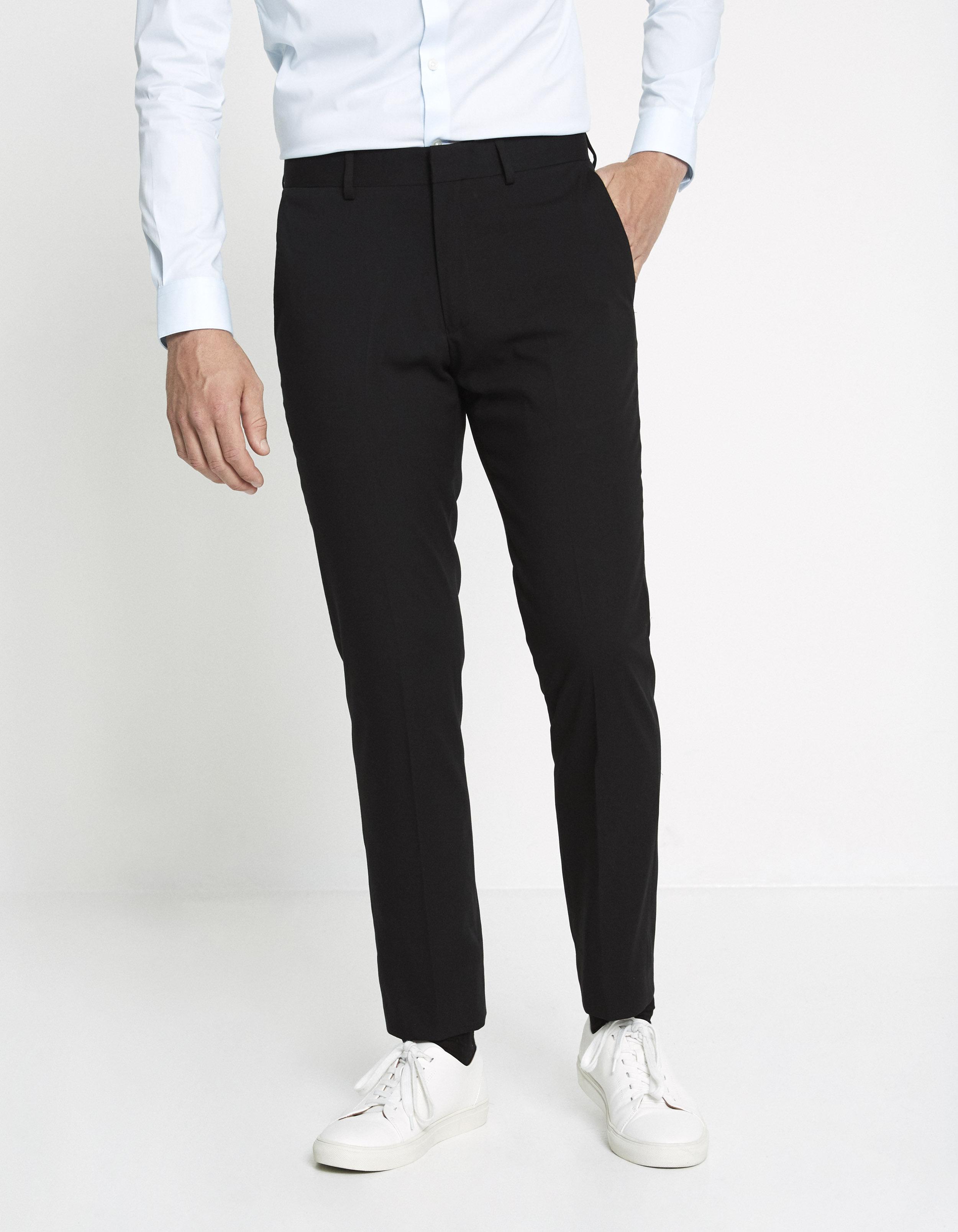 Pantalon PRIM slim extensible uni – noir Prix 39,99 €