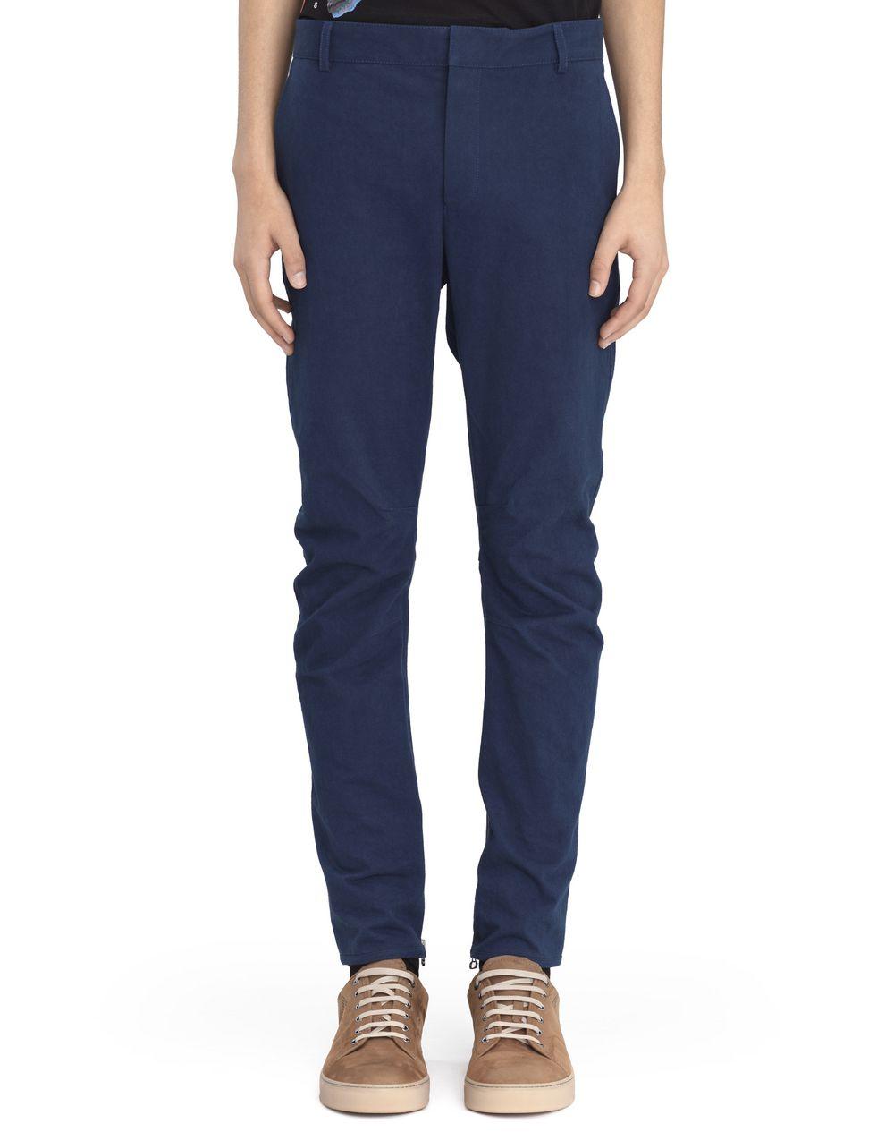 Pantalon biker en coton bleu,Lanvin Prix €675