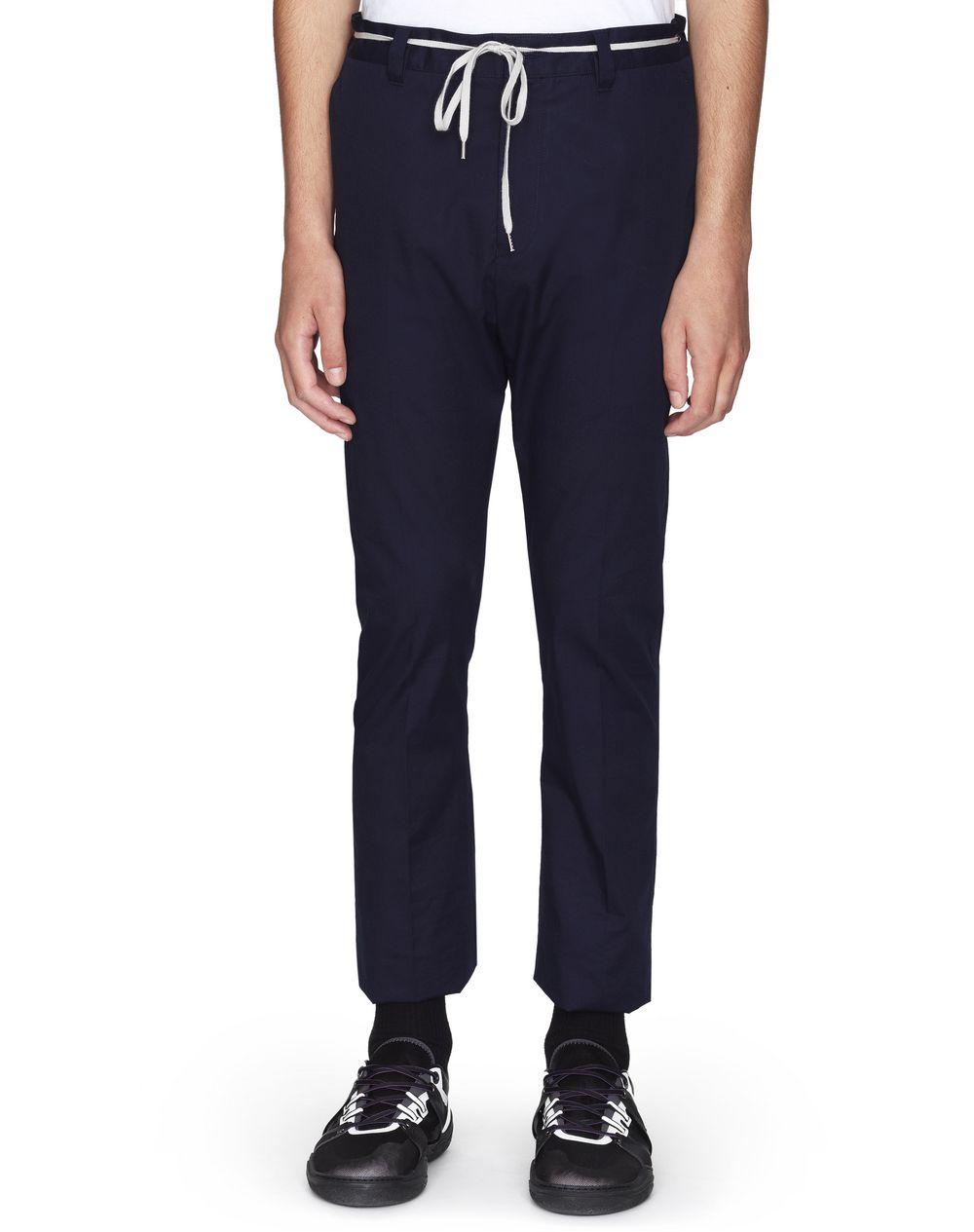 Pantalon en coton bleu foncé Lanvin Prix €450