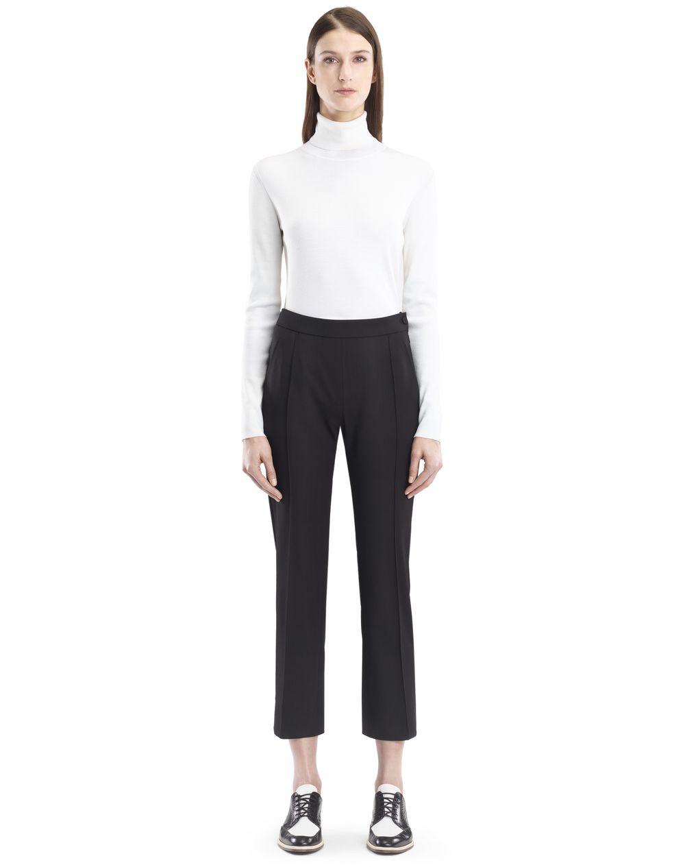 Pantalon en gabardine stretch noire taille haute Lanvin – Prix €590