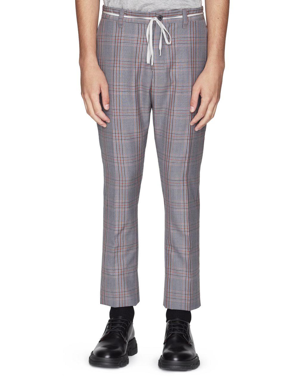 Pantalon en laine grise à carreaux Lanvin Prix €675