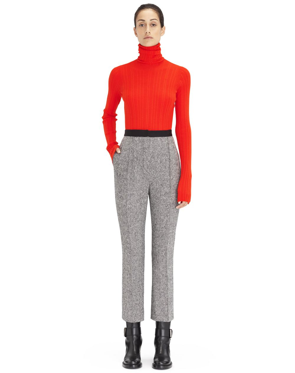 Pantalon en tweed léger gris, taille haute Lanvin – Prix €815