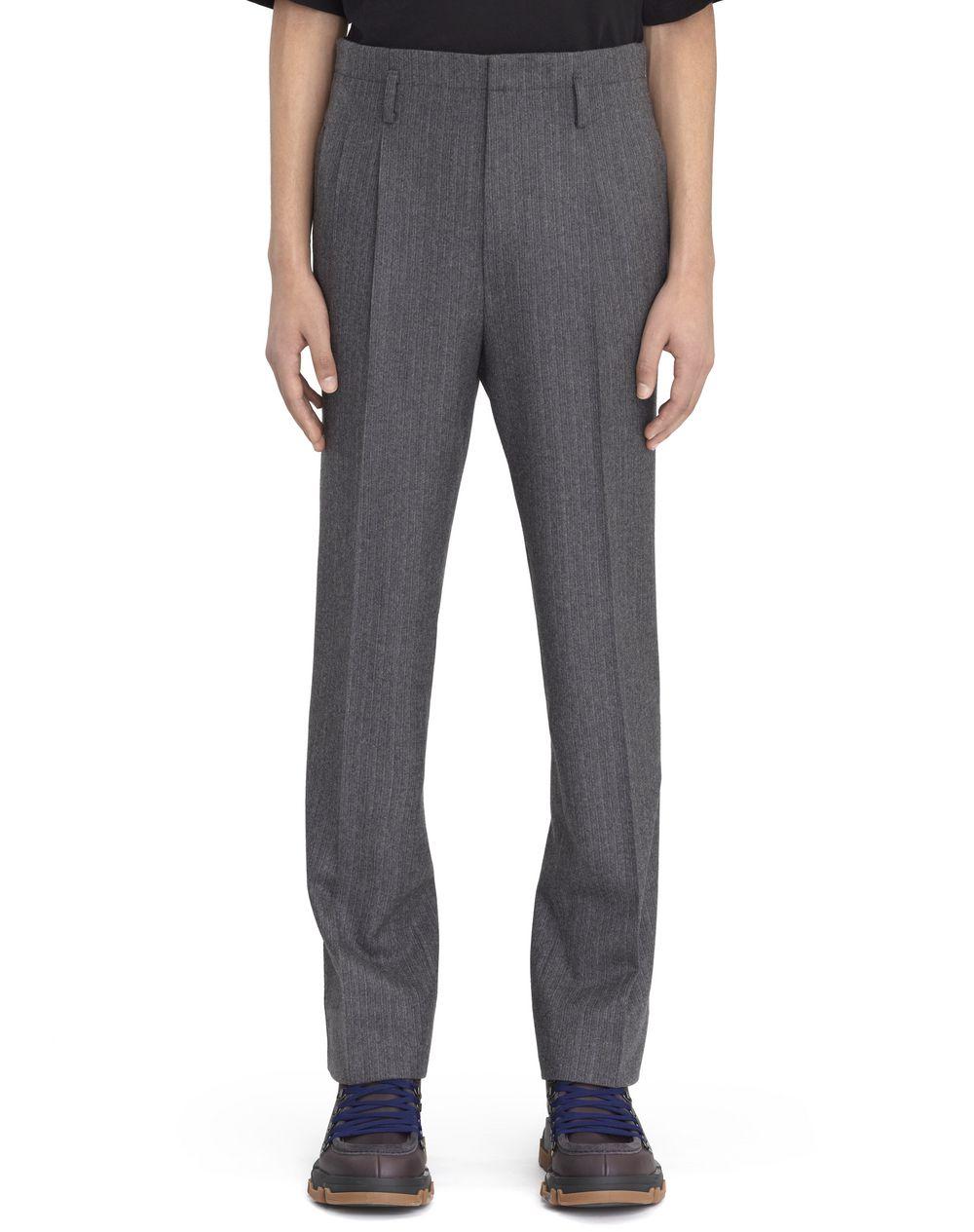 Pantalon pin stripes en flanelle grise Lanvin Prix €795
