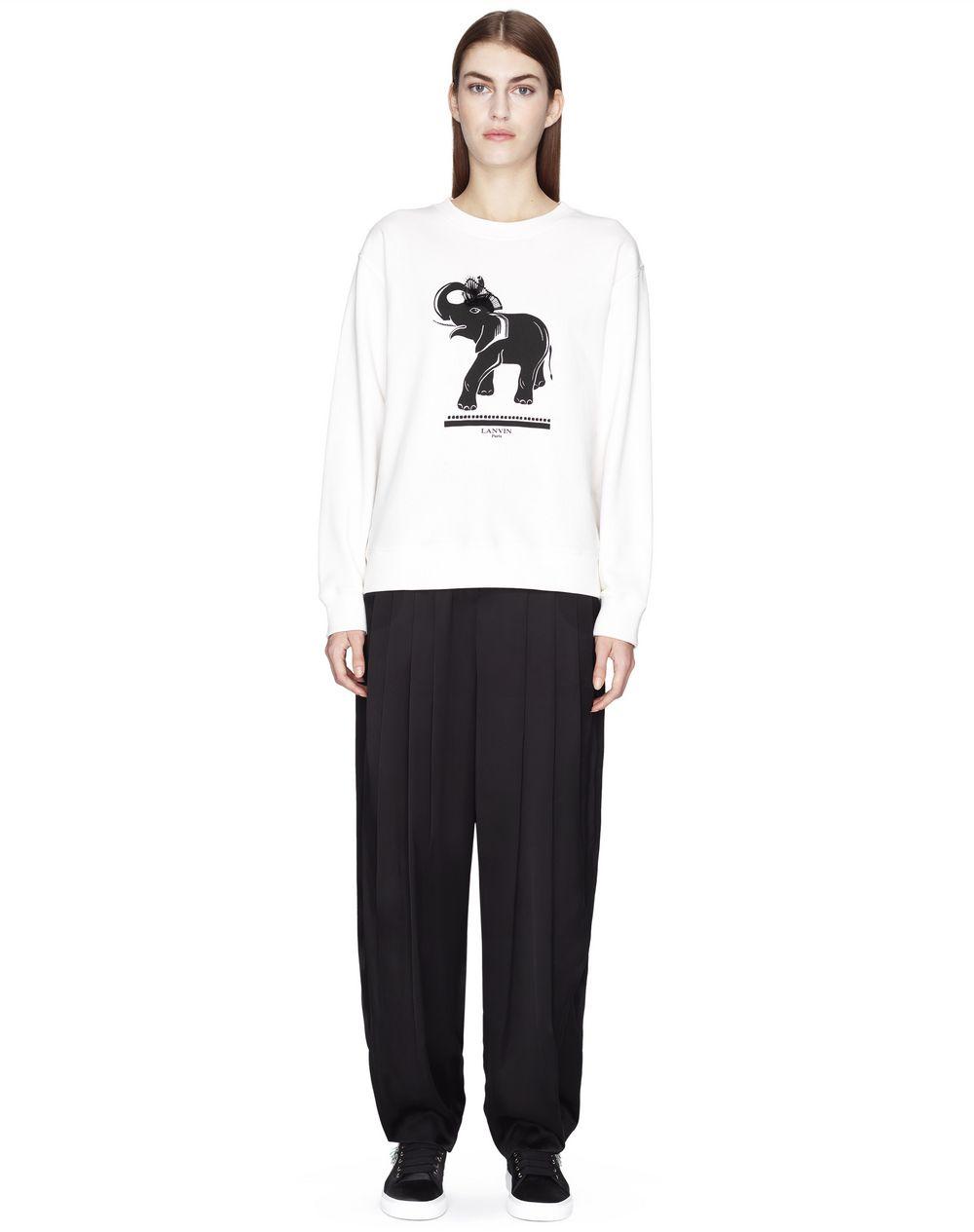 Pull en jersey de coton tricoté de couleur crème Lanvin – Prix €450