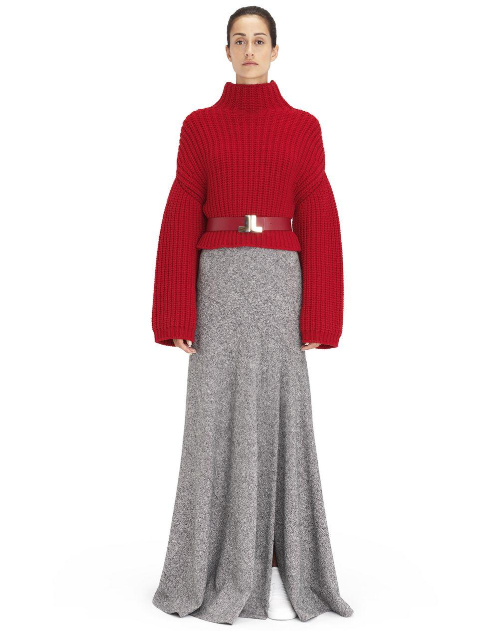 Pull en maille côtelée épaisse couleur rouge Lanvin – Prix €990