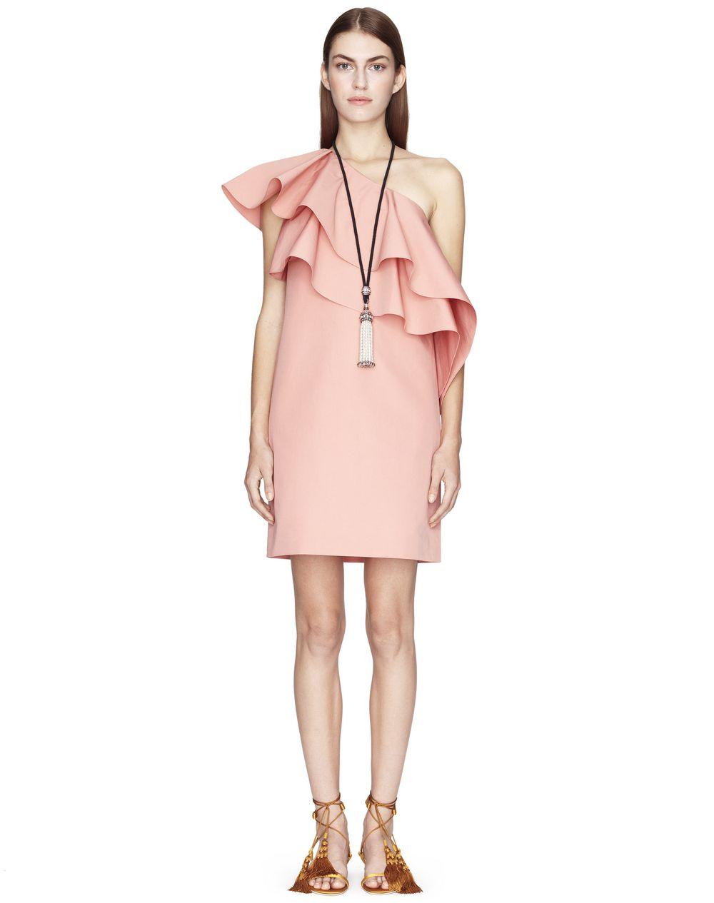 Robe courte en coton tissé de couleur blush Lanvin Prix€1 290