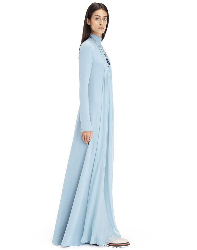 Robe longue en georgette de soie de couleur aqua, Lanvin – Prix €3 990