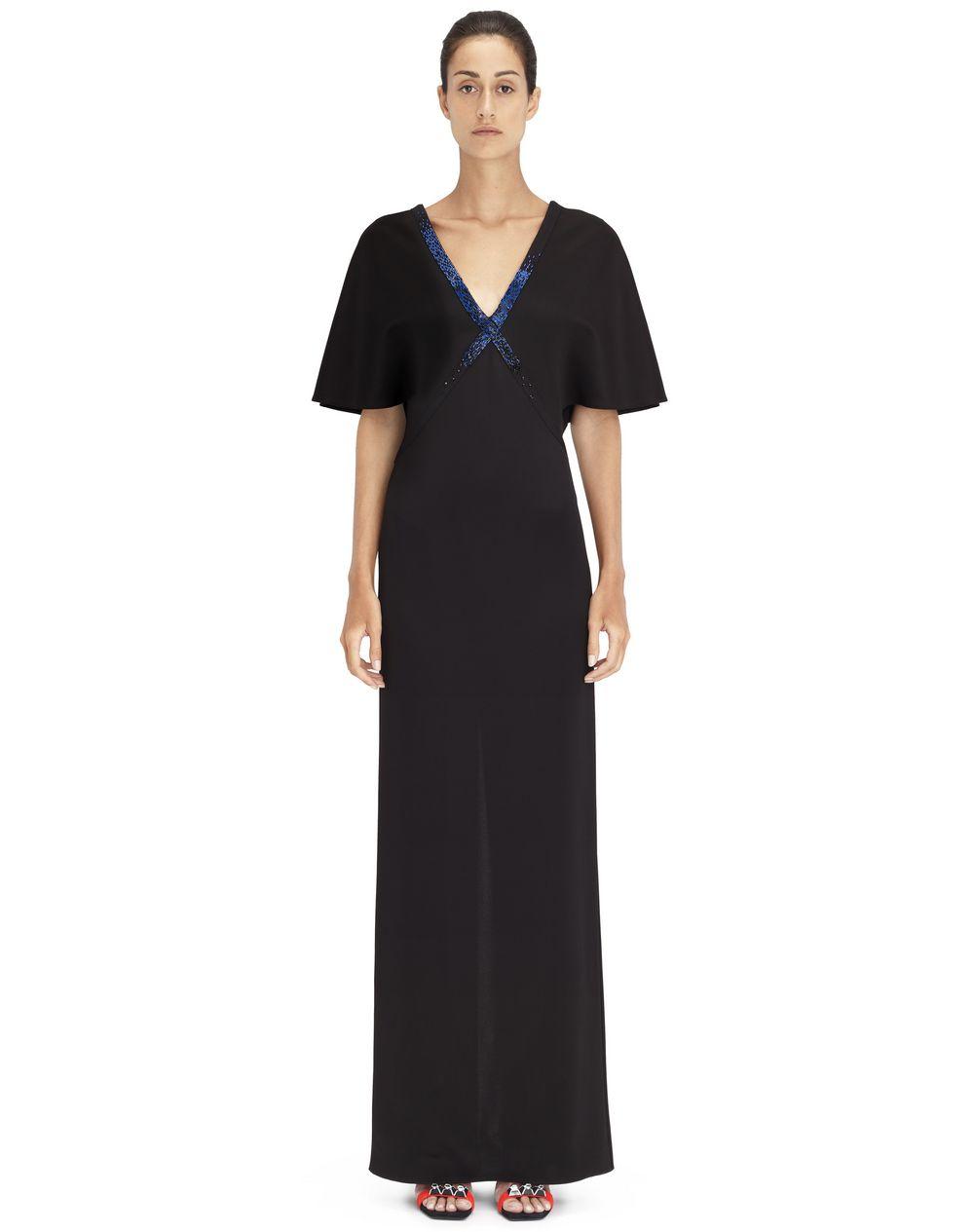 Robe longue en jersey de viscose noir Prix €1 890