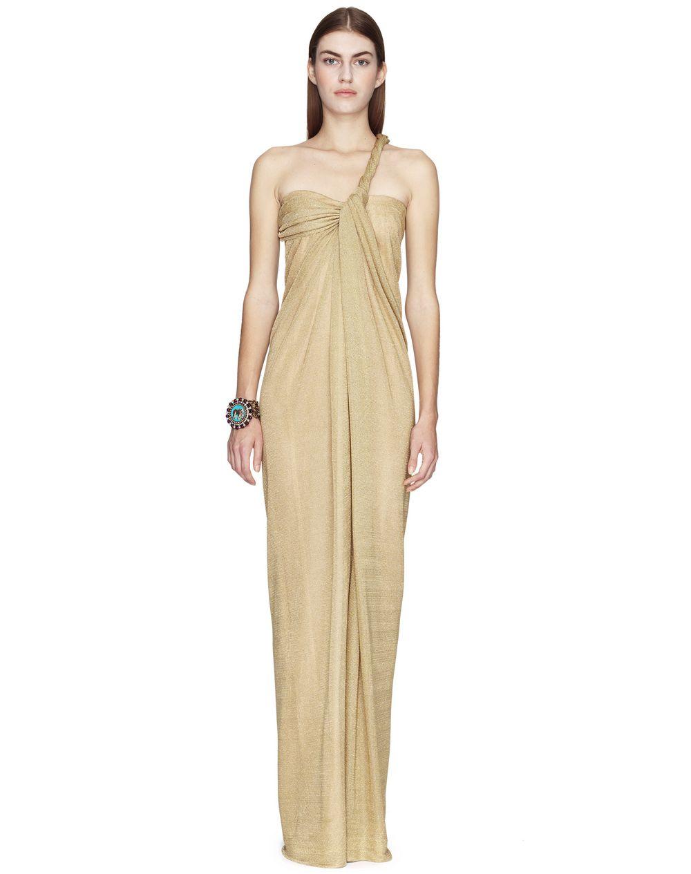Robe longue en lurex métallique de couleur or Prix €2 490