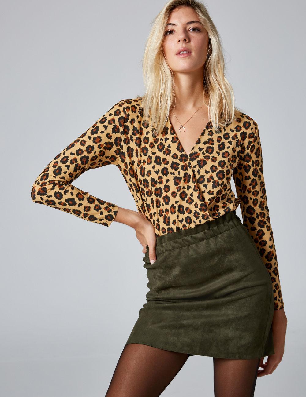 body cache-coeur léopard beige et noir Jennyfer prix 16,99 €
