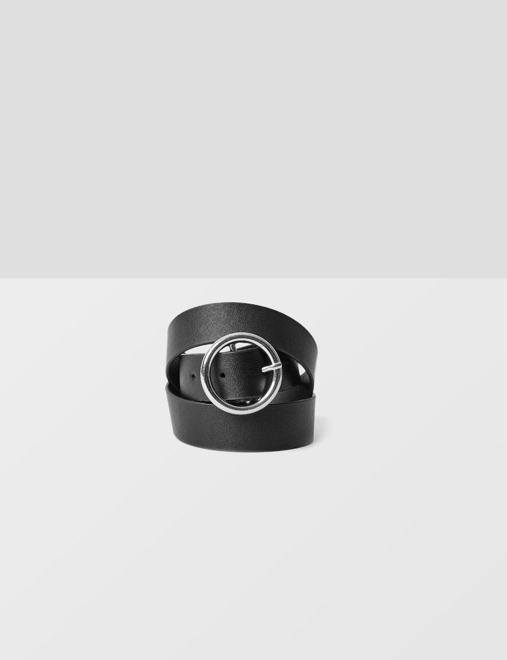 ceinture à boucle ronde noire Jennyfer prix 5,99 €