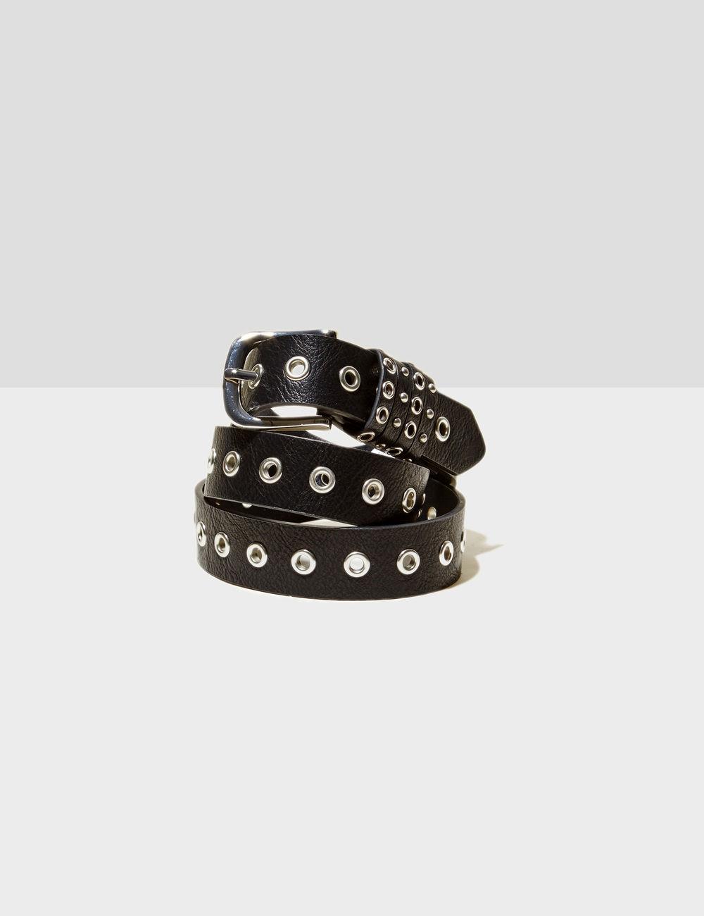 ceinture avec oeillets noire Jennyfer prix 9,99 €