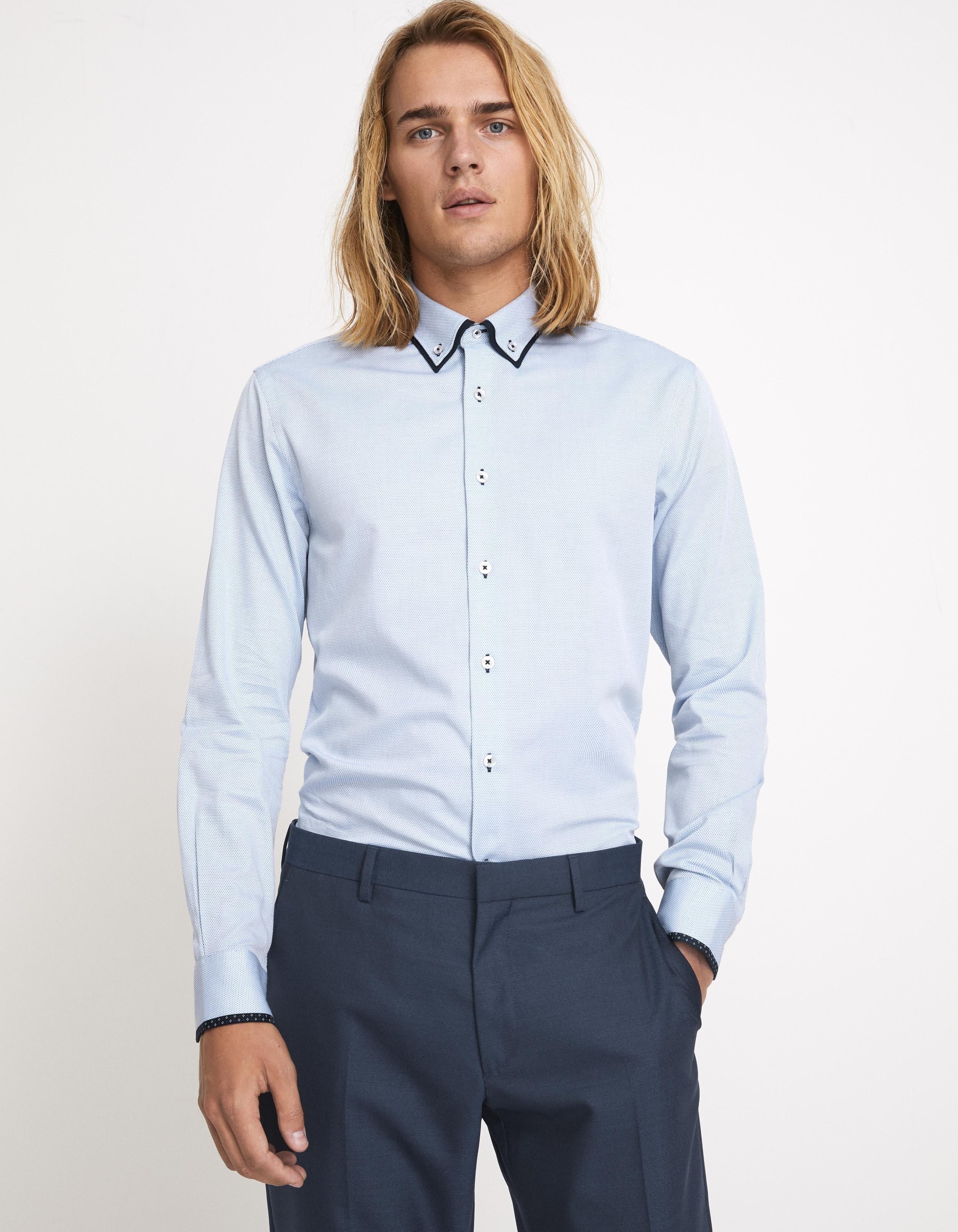 chemise slim 100% coton texturée Celio Club Prix 39,99 €