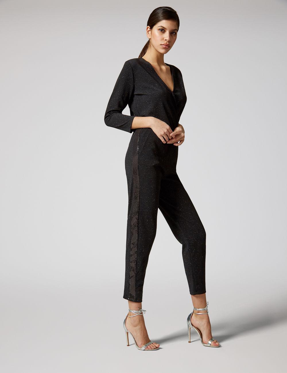combinaison bandes sequins noir Jennyfer prix 24,99 €