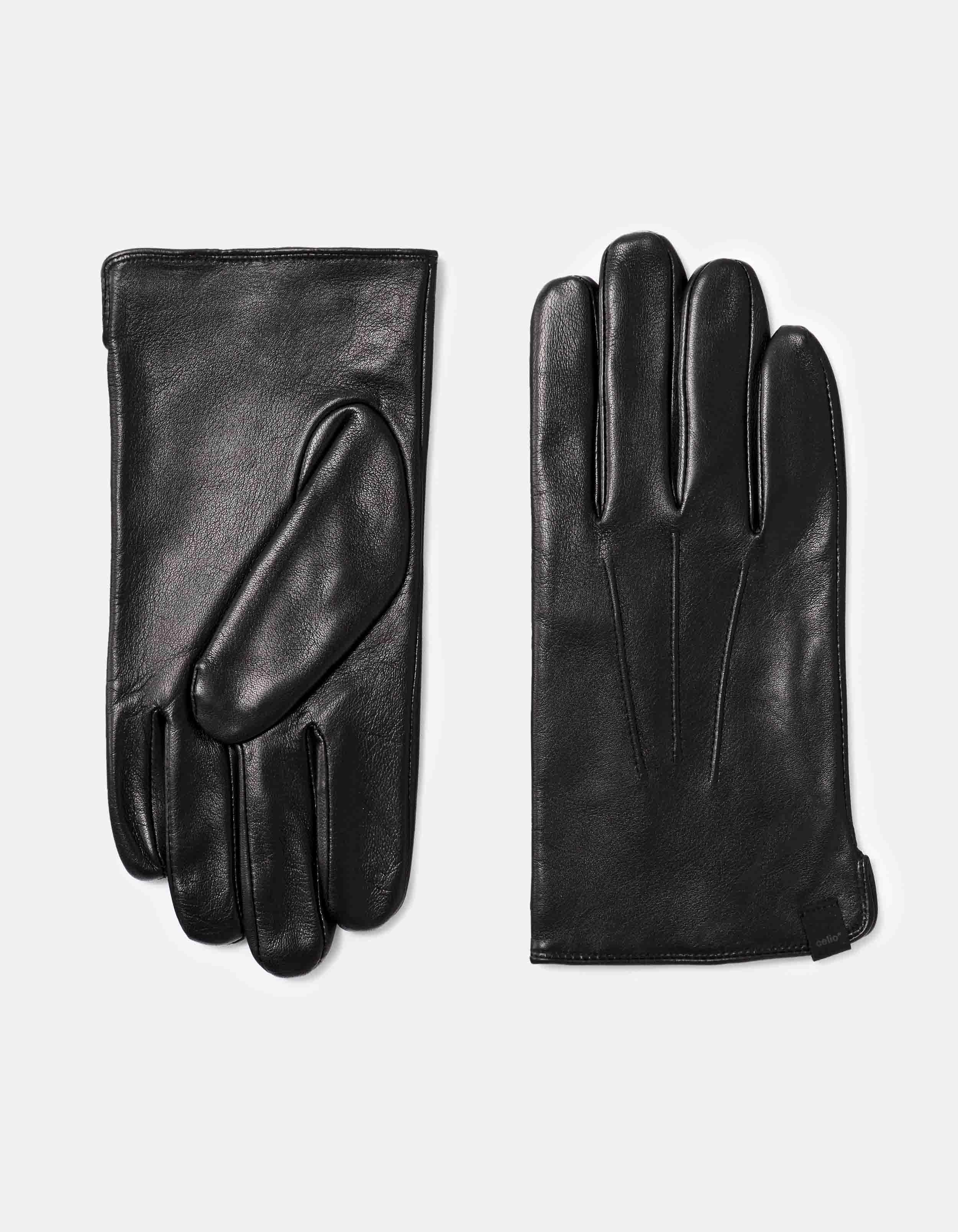 gants en cuir détail surpiqûre Prix 29,99 €