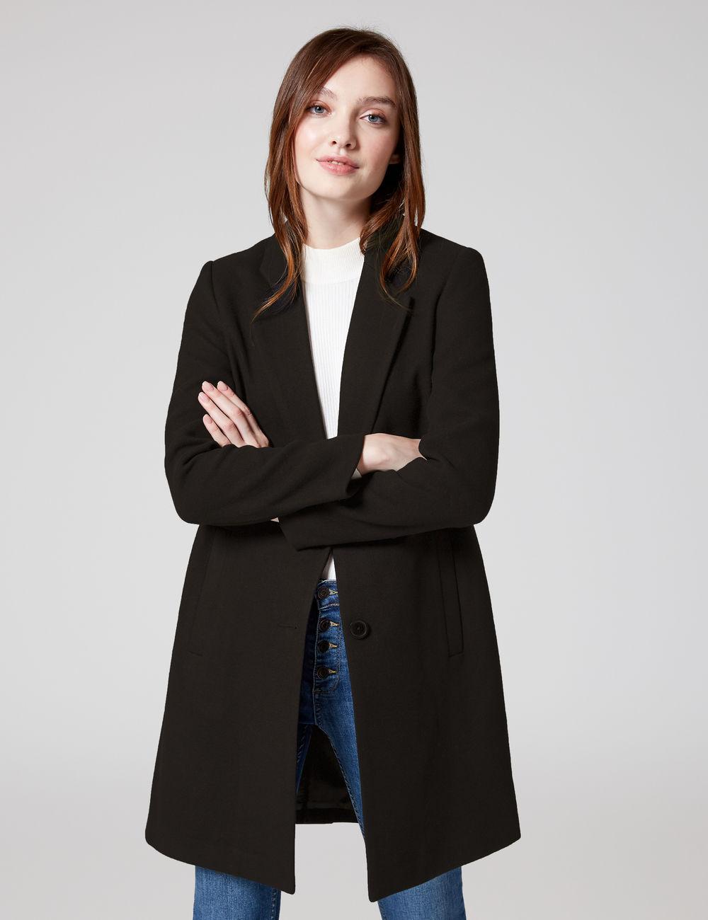 manteau caban noir Jennyfer prix 45,99 €