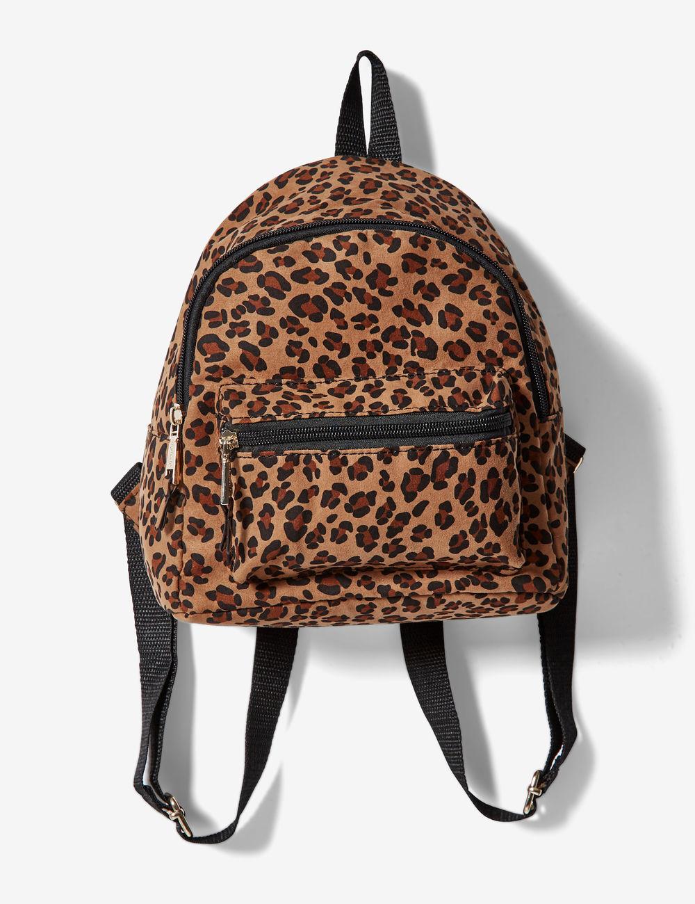 sac à dos léopard noir et camel Jennyfer prix 15,99 €