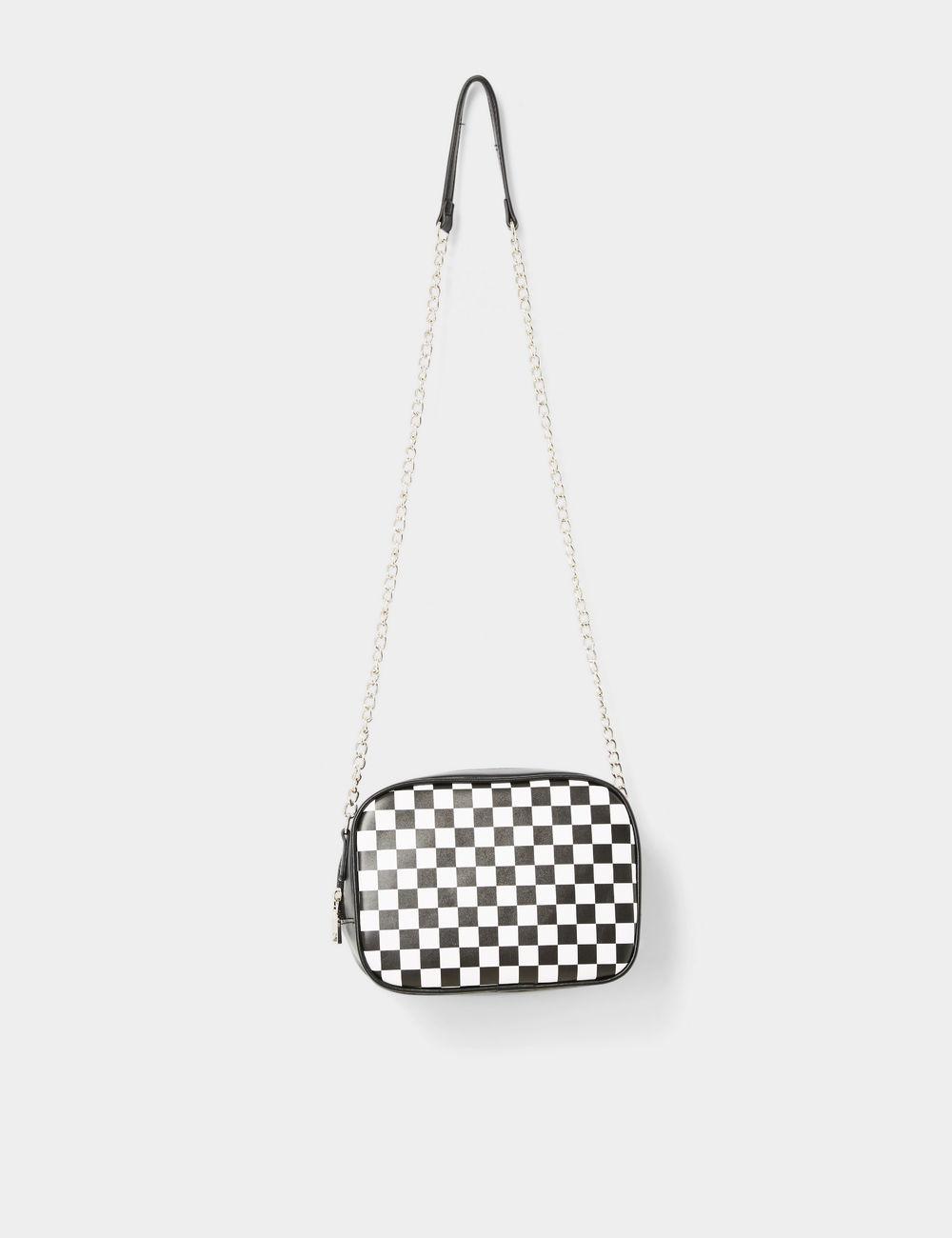 sac damier noir et blanc Jennyfer prix 16,99 €