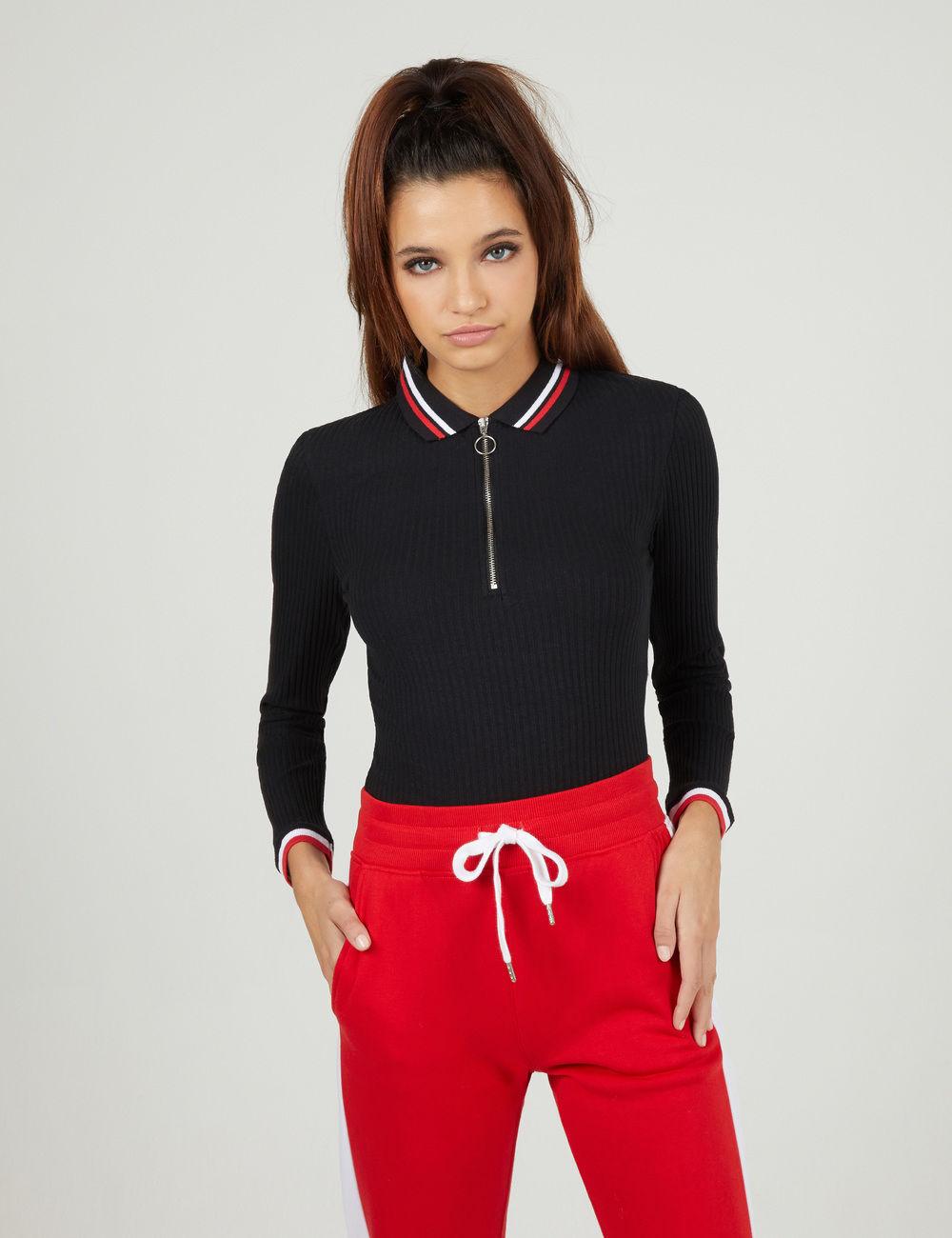tee-shirt esprit polo noir Jennyfer prix 12,99 €