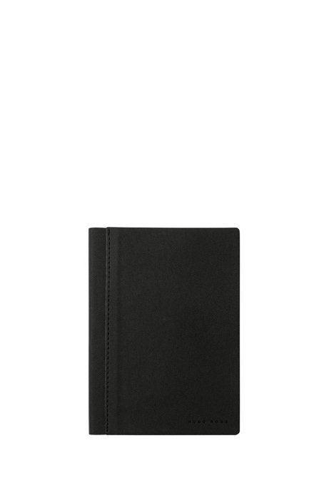 A6 notebook in dark-grey textured fabric HUGO BOSS