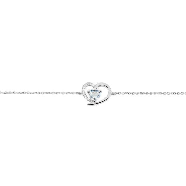 Bracelet Eliana Or Blanc Topaze Diamants histoire d'or Prix 169 €