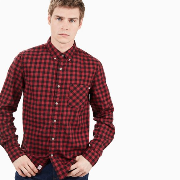 CHEMISE BACK RIVER VICHY POUR HOMME EN ROUGE Timberland Prix € 89,00