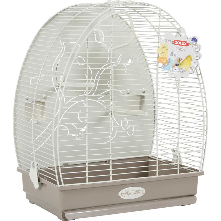 Cage à oiseaux arabesque alice grise L. 41 x l. 30 x H. 49.5 cm BOTANIC Prix 45.00 €