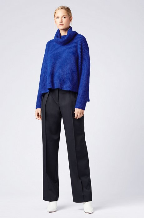 Gallery Collection oversized-fit sweater in a wool blend HUGO BOSS
