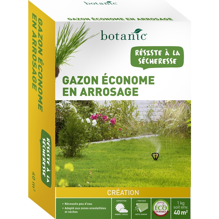 Gazon économe en arrosage Label Éco-durable 1 kg BOTANIC Prix 12.95 €