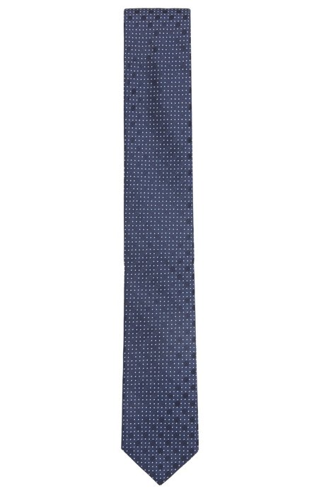 Italian-made patterned tie in silk jacquard HUGO BOSS