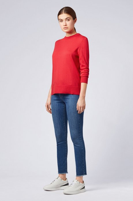 Lightweight sweater in cotton with silk and cashmere HUGO BOSS