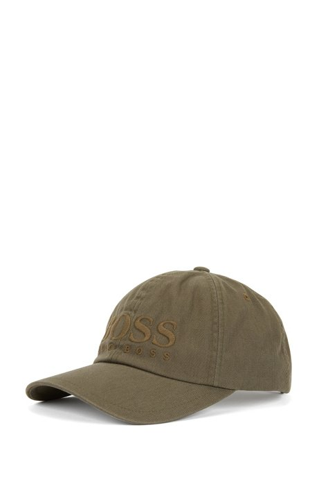 Logo baseball cap in cotton twill HUGO BOSS