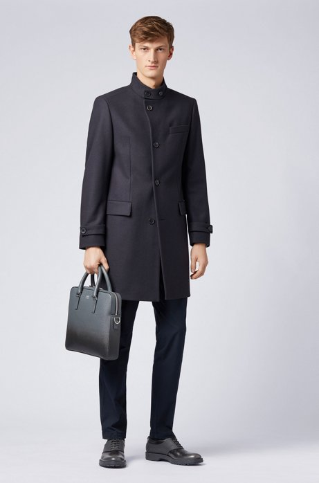 Long-length coat in a virgin-wool blend HUGO BOSS