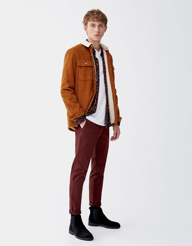 Pantalon chino skinny fit avec ceinture Pull&Bear Prix 99.00 TND