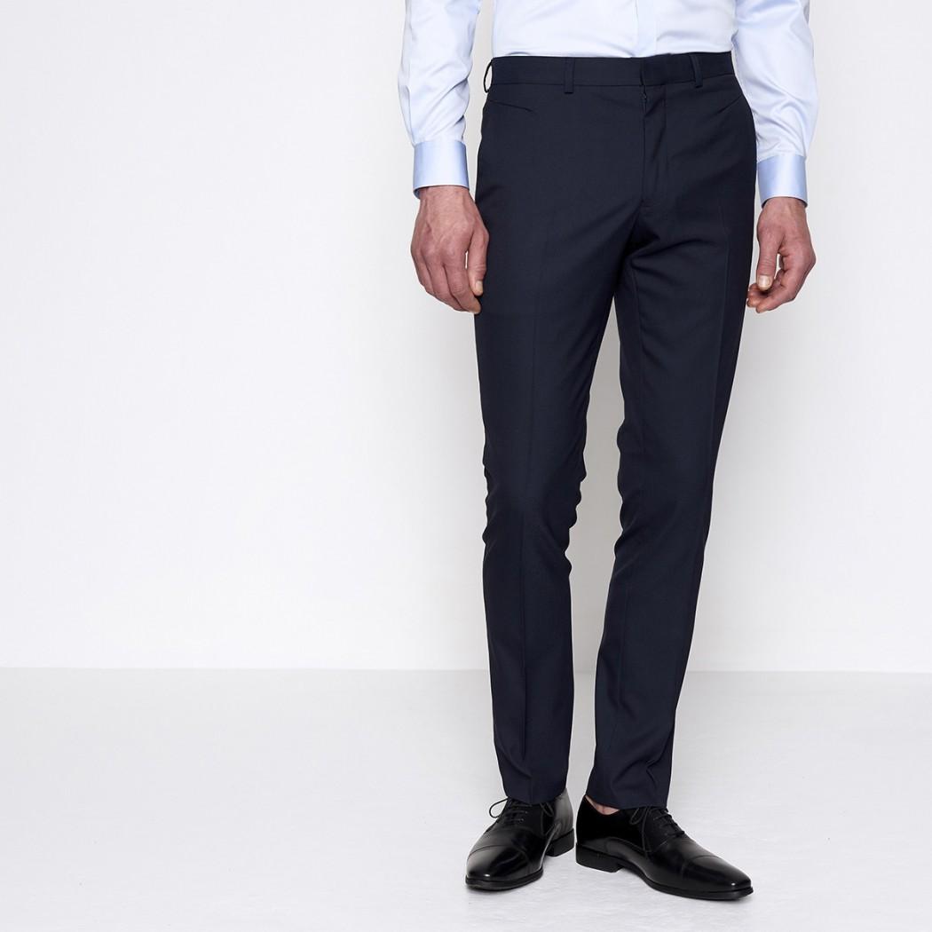 Pantalon de costume bleu marine Homme DEVRED Prix 49,99 €