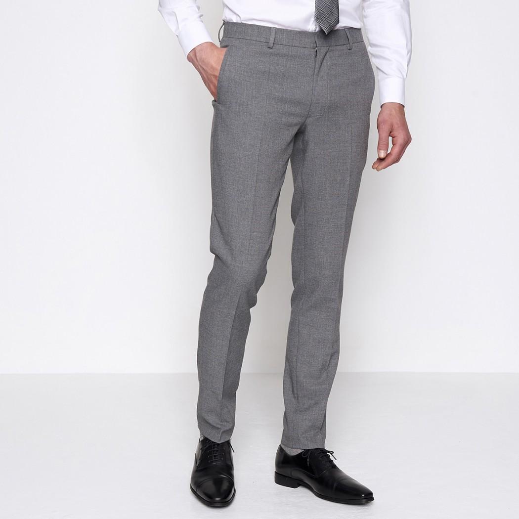 Pantalon de costume en toile grise DEVRED Prix 54,99 €