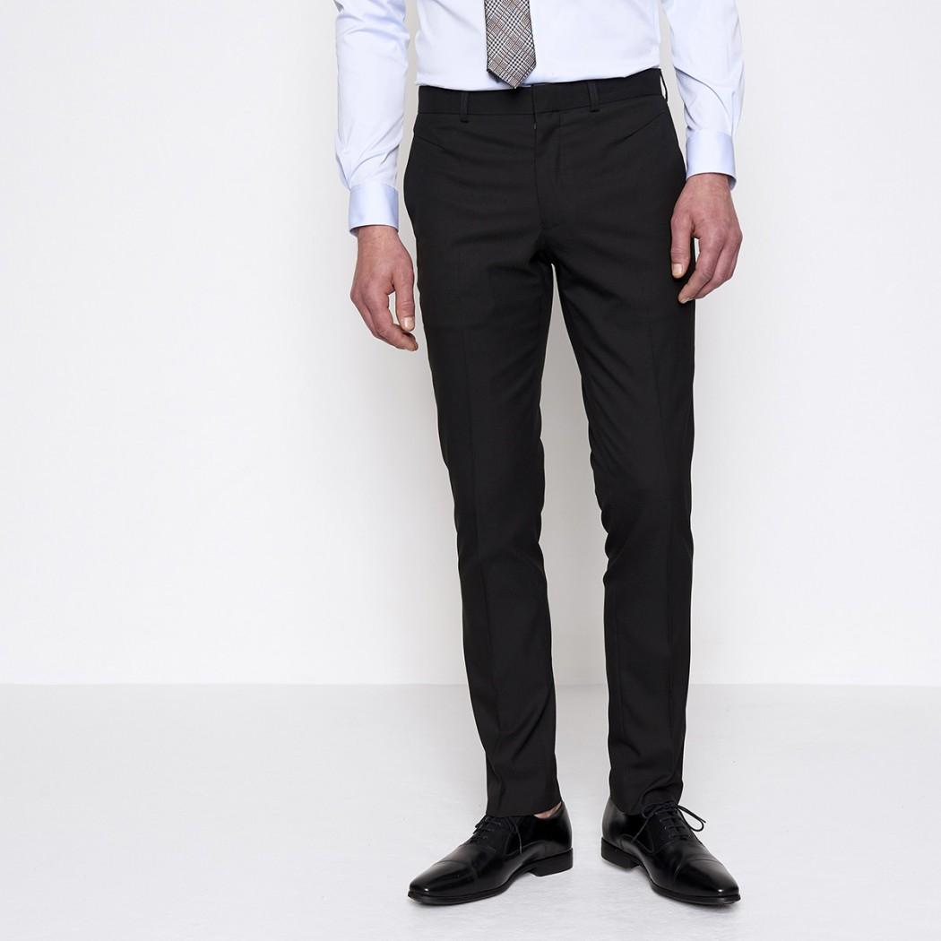 Pantalon de costume noir Homme DEVRED Prix 49,99 €
